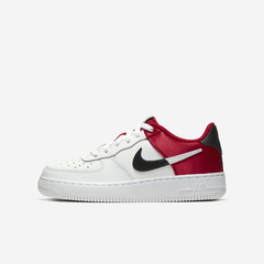 NIKE AIR FORCE 1 LOW LV8 NBA SATIN RED - GS
