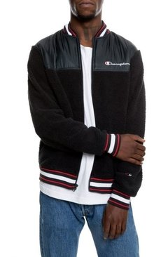 Sherpa Baseball Varsity Jacket By Champion Black