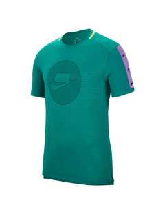 "NIKE NSW DRI FIT NK ""WILD RUN"" TOP TEE GREEN - MEN'S"