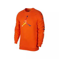 "JORDAN DNA HBR FLEECE ""ORANGE"" CREW - MEN'S"