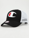 CHAMPION TWILL MESH BLACK/WHITE TRUCKER SNAPBACK