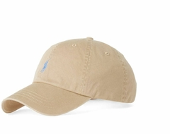 "POLO RALPH LAUREN CLASSIC ""KHAKI/LIGHT BLUE"" HAT"
