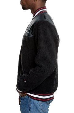 Sherpa Baseball Varsity Jacket By Champion Black - comprar online