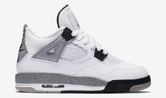 "AIR JORDAN RETRO 4 OG ""WHITE CEMENT"" - GS en internet"
