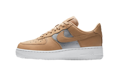 "NIKE AIR FORCE 1 LOW ""VACHETTA TAN/METALLIC SILVER"" - WOMEN'S"