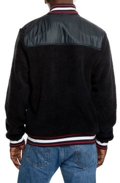 Sherpa Baseball Varsity Jacket By Champion Black en internet