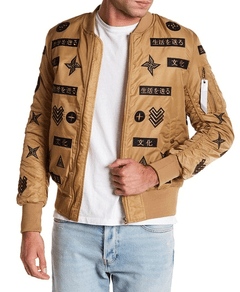 American Stitch Patchwork Bomber Jacket