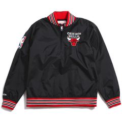 Chicago Bulls Mitchell & Ness Nba Men's 1/4 Zip Nylon Pull
