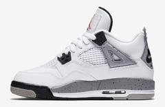 "AIR JORDAN RETRO 4 OG ""WHITE CEMENT"" - GS"