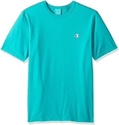 "CHAMPION ""LOGO PATCH"" TEE TEAL - MEN'S"