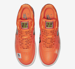 "NIKE AIR FORCE 1 LOW ""JUST DO IT"" ORANGE - MEN'S - LoDeJim"