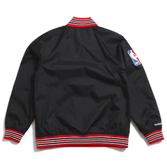 Chicago Bulls Mitchell & Ness Nba Men's 1/4 Zip Nylon Pull - comprar online