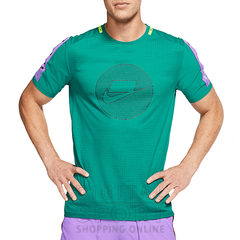 "NIKE NSW DRI FIT NK ""WILD RUN"" TOP TEE GREEN - MEN'S en internet"