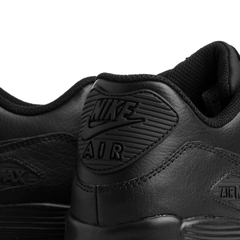 Air Max 90 Leather (GS) BLACK - tienda online