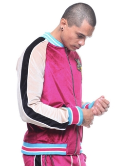 Hudson NYC Colorblock Track Jacket Velour
