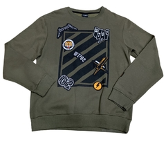 WT02 Pocket Sweatshirt Patches Olive - Hooded
