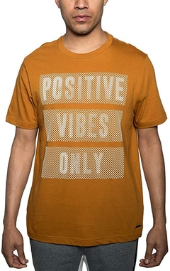 Sean John Men's Positive Vibes Only Graphic T-Shirt Cammel