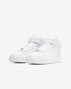 "Nike Air Force 1 Mid '07 ""White/White"" - GS"