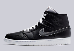 "Air Jordan 1 Mid Black White ""Maybe I Destroyed The Game"""