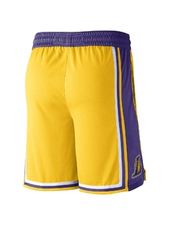 Los Angeles Lakers Icon Edition Nike NBA Swingman Shorts 'Yellow/Purple' - comprar online