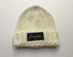 Beanie Sean John Woven Label Double Roll Cuff