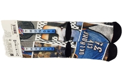 Oklahoma City Thunder NBA Socks Kevin Durant Centercourt Team - LoDeJim