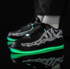 "Imagen de Nike Air Force 1 QS ""Skeleton"" Black 
