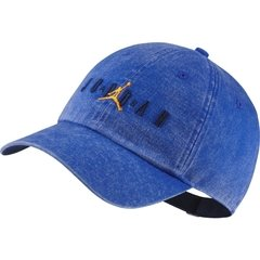 JORDAN HERITAGE 86 WASHED JUMPMAN BLUE STRAPBACK