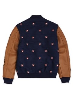 REASON KINGDOM VARSITY JACKET - NAVY - comprar online