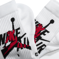 Air Jordan Legacy Crew Socks White/Red - LoDeJim