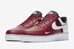 "NIKE AIR FORCE 1 LOW LV8 ""TEAM SPORTS"" BURGUNDY - MEN'S"