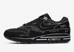 "Nike Air Max 1 ""Tinker Schematic"" Black"