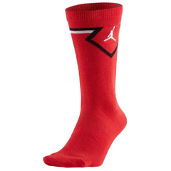 JORDAN LEGACY DIAMOND CREW SOCKS RED