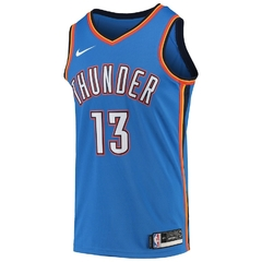 Oklahoma City Thunder Paul George Nike Blue Swingman Jersey - comprar online