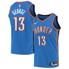 Oklahoma City Thunder Paul George Nike Blue Swingman Jersey