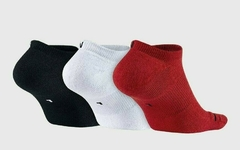 Air Jordan JUMPMAN NO SHOW 3 Pack Socks Black/White/Red - comprar online