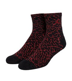 Jordan Elephant Print High Quarter Socks Gym Red
