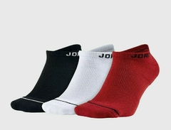 Air Jordan JUMPMAN NO SHOW 3 Pack Socks Black/White/Red