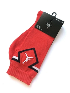 JORDAN LEGACY DIAMOND CREW SOCKS RED - LoDeJim