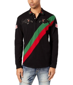 Reason Mens Panther Embroidered Rugby Polo Shirt en internet