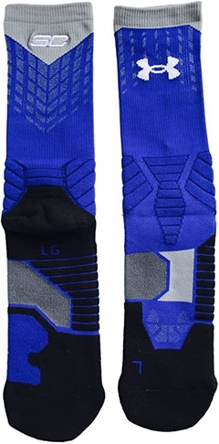 Under Armour SC30 Drive Crew Basketball Sock Blue U374 - L