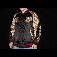 Smoke Rise Tiger Embroidered Zip Up Jacket