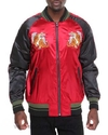 Smoke Rise Tiger Embroidered Maroon Zip Up Jacket