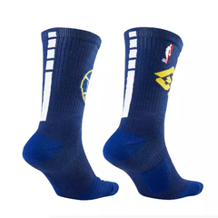 NIKE ELITE NBA GOLDEN STATE WARRIORS BASKETBALL CREW SOCKS BLUE en internet