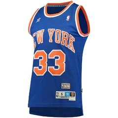 Patrick Ewing New York Knicks Blue Throwback Road Hardwood Classics Swingman climacool Jersey - comprar online