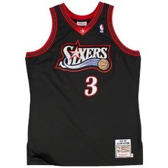Philadelphia 76ers Allen Iverson Mitchell & Ness Black Authentic Basketball Jersey