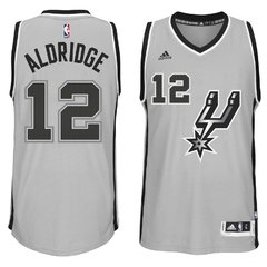 adidas LaMarcus Aldridge San Antonio Spurs Gray Alternate Swingman climacool Jersey en internet