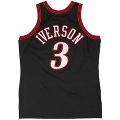 Philadelphia 76ers Allen Iverson Mitchell & Ness Black Authentic Basketball Jersey - comprar online