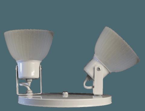 aplique para techo o ventilador de luces apto led o bajo consumo entreluces