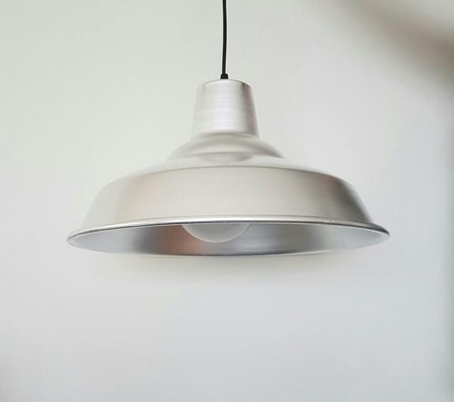 L mpara colgante de aluminio tipo campana industrial - Lampara tipo industrial ...